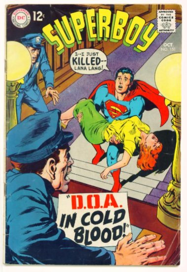 SUPERBOY #151 DC Comics 1968