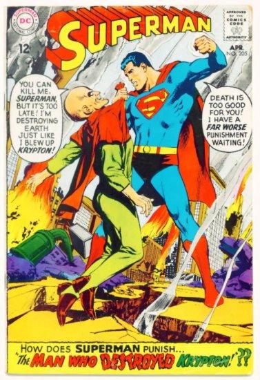 SUPERMAN #205 DC Comics 1968