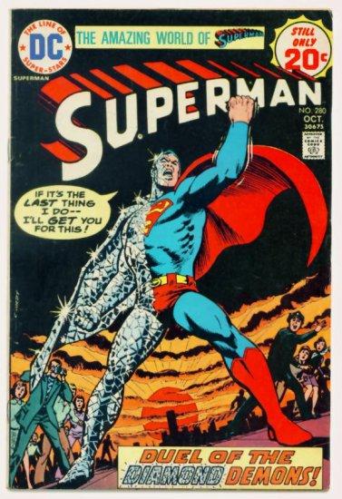 SUPERMAN #280 DC Comics 1974 Private Life of Clark Kent