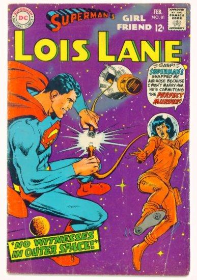 LOIS LANE #81 DC Comics 1968 Superman