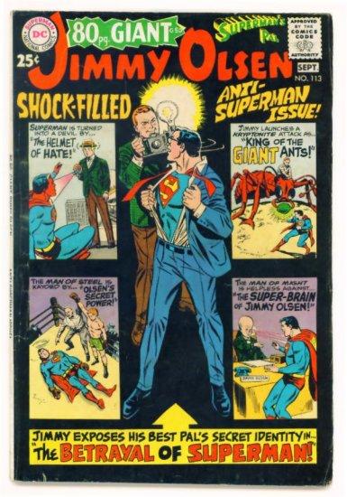 JIMMY OLSEN Superman's Pal #113 DC Comics 1968 80 Page Giant G-50