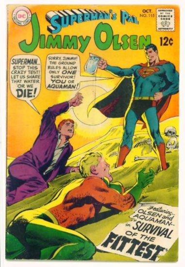 JIMMY OLSEN Superman's Pal #115 DC Comics 1968 Aquaman