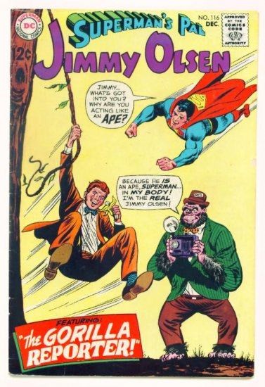 JIMMY OLSEN Superman's Pal #116 DC Comics 1968 Braniac