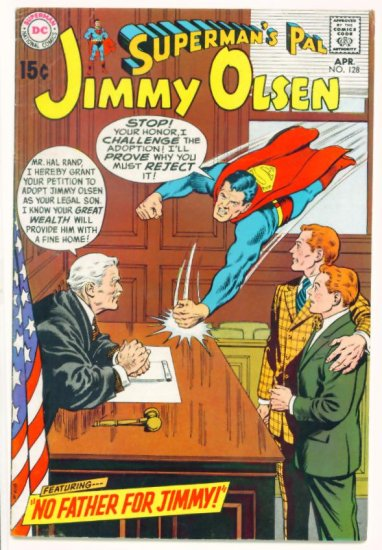 JIMMY OLSEN Superman's Pal #128 DC Comics 1970
