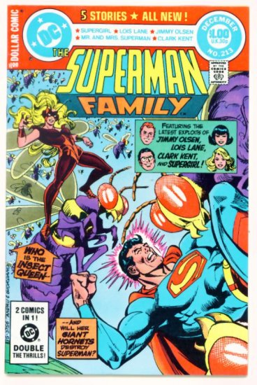 SUPERMAN FAMILY #213 DC Comics 1981 Dollar Giant Very Fine