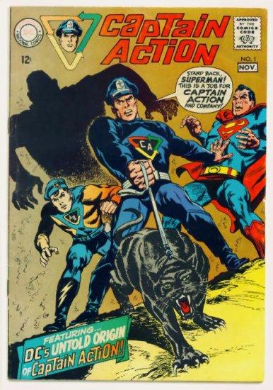 CAPTAIN ACTION #1 DC Comics 1968 Wally Wood