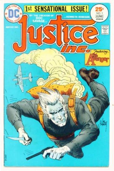 JUSTICE INC #1 DC Comics 1975 Origin The Avenger