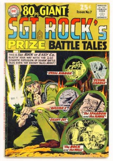 SGT ROCK PRIZE BATTLE TALES 80 PAGE GIANT #7 DC Comics 1967