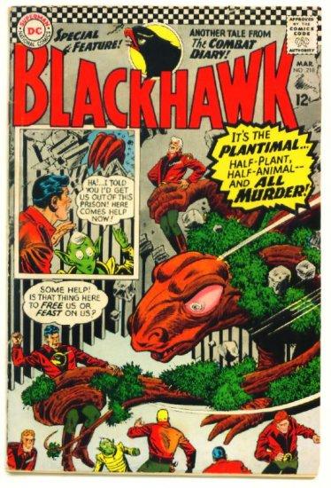 BLACKHAWK #218 DC Comics 1966 Monster Cover