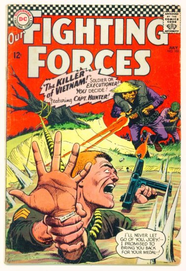 OUR FIGHTING FORCES #101 DC Comics 1966 WAR