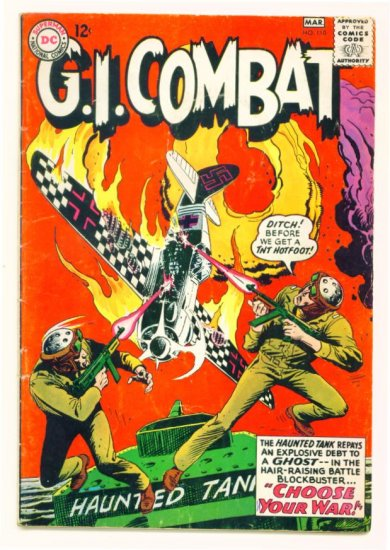 Haunted Tank G.I. COMBAT #110 DC Comics 1965