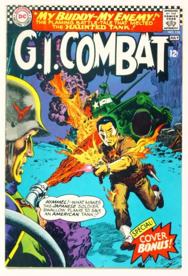 Haunted Tank G.I. COMBAT #118 DC Comics 1966