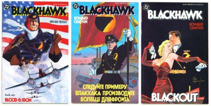 BLACKHAWK #1 #2 & #3 COMPLETE DC Comics 1988 CHAYKIN
