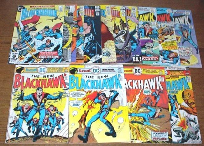 BLACKHAWK Lot of 15 DC War Comics 1976 - 1983