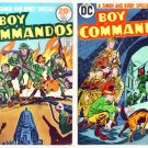 BOY COMMANDOS #1 and #2 DC Comics 1973 Joe Simon Jack Kirby