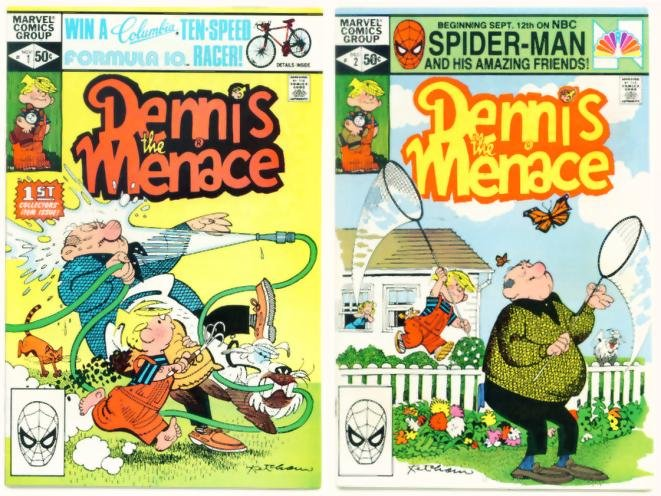 DENNIS the MENACE #1 and #2 Marvel Comics 1981