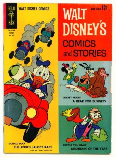 WALT DISNEY COMICS and STORIES #270 Gold Key 1963 Carl Barks