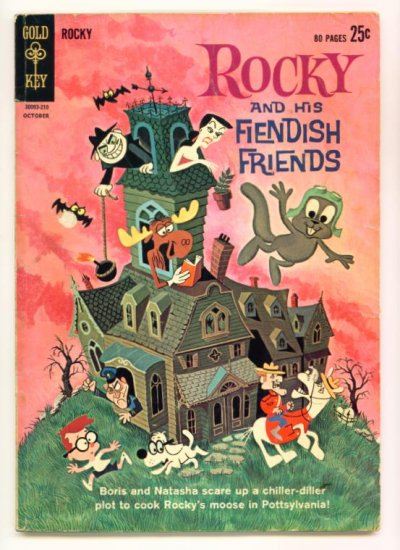 ROCKY and His Fiendish Friends #1 Gold Key Comics 1962 Bullwinkle GIANT