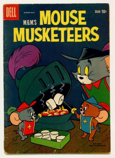TOM and JERRY MOUSE MUSKETEERS #17 Dell Comics 1959