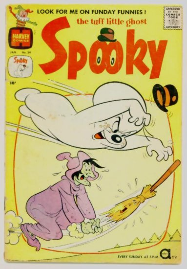 SPOOKY #39 Harvey Comics 1960 Tuff Little Ghost DIME