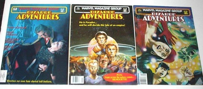 BIZARRE ADVENTURES Lot of 3 Marvel Magazines Tomb of Dracula