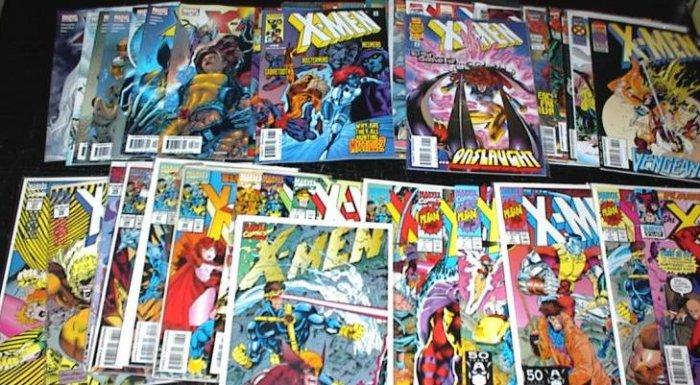 The X-MEN Lot of 40 Marvel Comics #1 - #167 1991 -2005