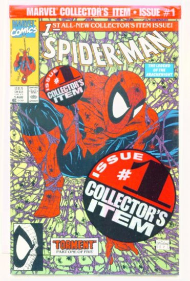 SPIDER-MAN #1 Marvel Comics 1990 NM Bagged SPIDEY FACE
