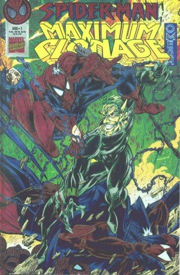 SPIDER-MAN MAXIMUM CLONAGE OMEGA #1 Marvel Comics 1995 foil cover