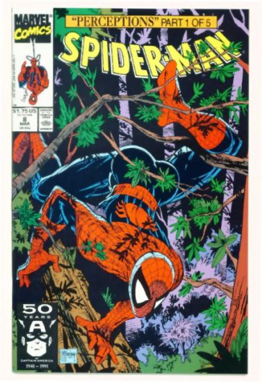 SPIDER-MAN #8 Marvel Comics 1991 NM Wolverine