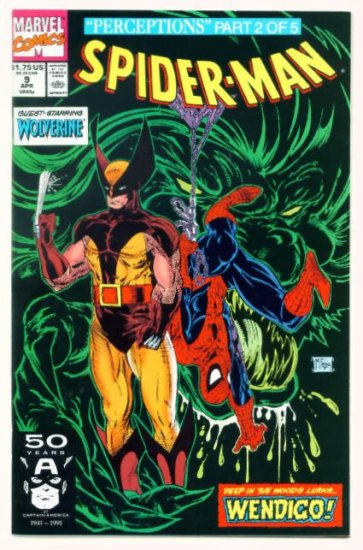 SPIDER-MAN #9 Marvel Comics 1991 NM Wolverine