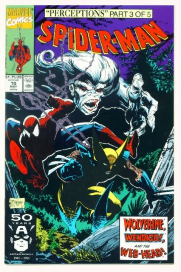 SPIDER-MAN #10 Marvel Comics 1991 NM Wolverine