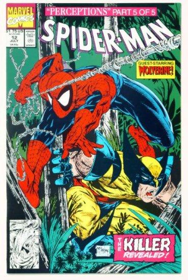 SPIDER-MAN #12 Marvel Comics 1991 NM Wolverine