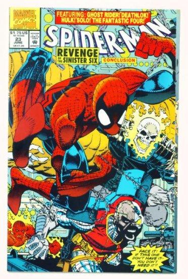 SPIDER-MAN #23 Marvel Comics 1992 NM  Hulk Ghost Rider