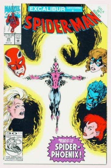 SPIDER-MAN #25 Marvel Comics 1992 NM  Excalibur