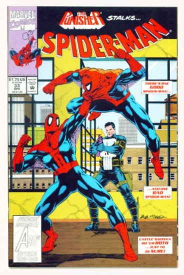 SPIDER-MAN #33 Marvel Comics 1993 NM Punisher