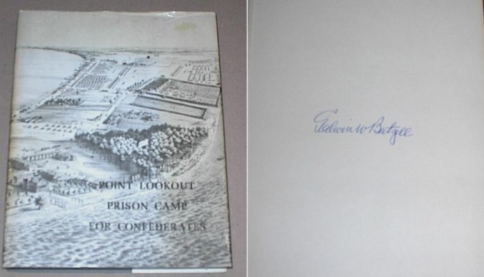 Signed POINT LOOKOUT PRISON CAMP CONFEDERATES CIVIL WAR Beitzell