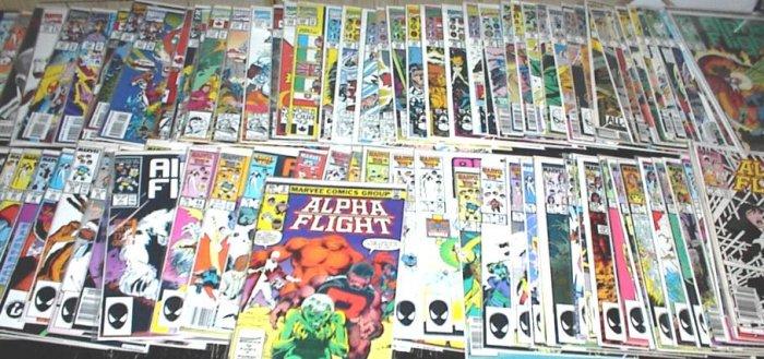 ALPHA FLIGHT Lot of 102 Marvel Comics #2 - #130 X-Men