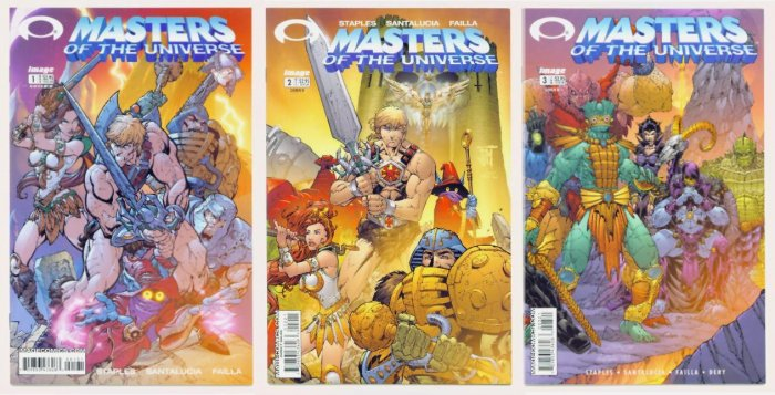 He-Man MASTERS of the UNIVERSE Lot #1 #2 #3 Image Comics 2002