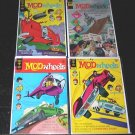 MOD WHEELS Lot of 4 Gold Key Comics 1970's Race Cars