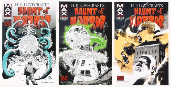 HAUNT of HORROR #1 #2 #3 Full Run Marvel Comics 2008 HP Lovecraft