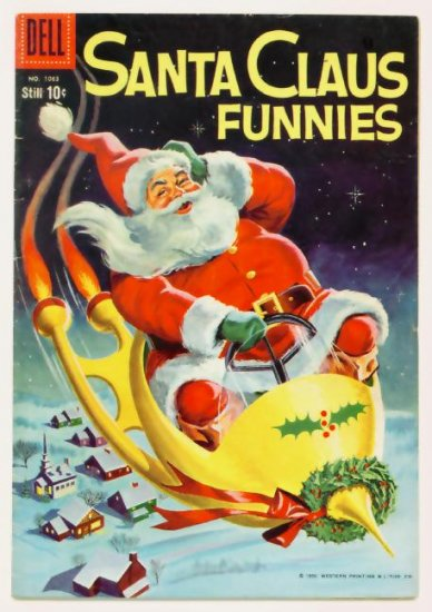 SANTA CLAUS FUNNIES Dell Comics 1959 Four Color 1063
