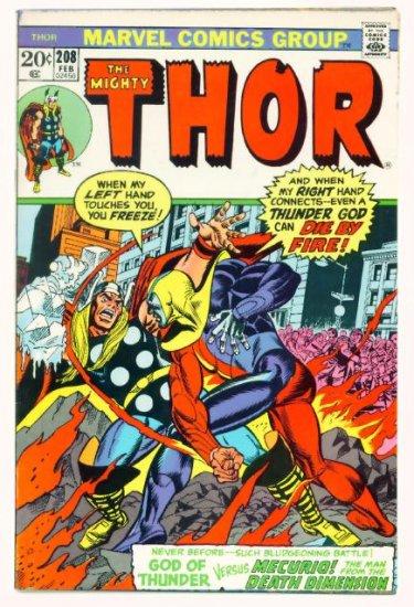 THE MIGHTY THOR #208 Marvel Comics 1973