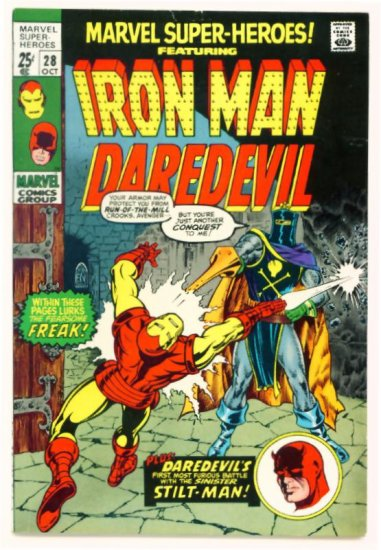 DAREDEVIL and IRON MAN Marvel Super-Heroes #28 Marvel Comics 1970 GIANT