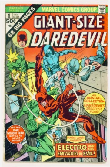 DAREDEVIL GIANT SIZE #1 Marvel Comics 1975