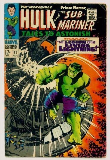 TALES to ASTONISH #97 Marvel Comics 1967 The Hulk