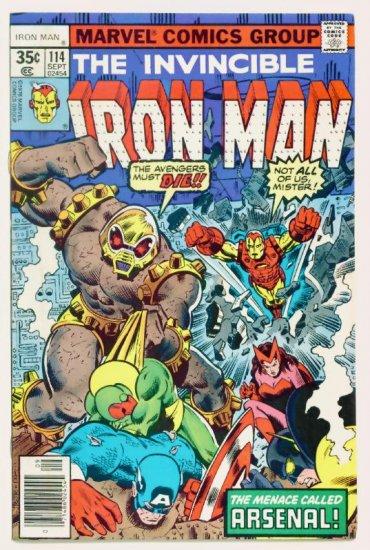 IRON MAN #114 Marvel Comics 1978 Avengers