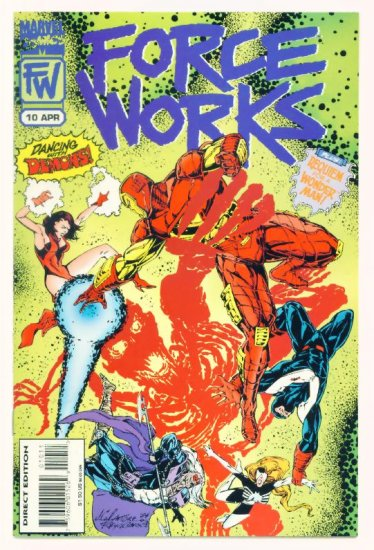 FORCE WORKS #10 Marvel Comics 1995 Iron Man