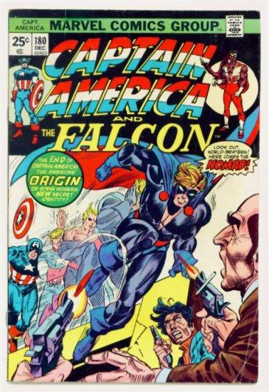 CAPTAIN AMERICA #180 Marvel Comics 1974 First Nomad Steve Rogers