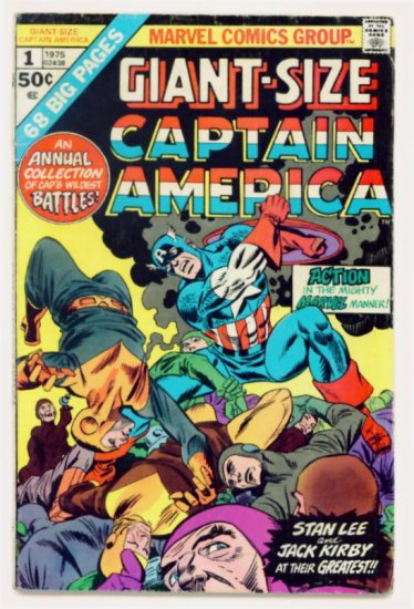 CAPTAIN AMERICA GIANT SIZE #1 Marvel Comics 1975