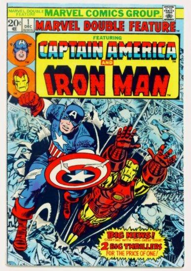 MARVEL DOUBLE FEATURE #1 Marvel Comics 1973 Captain America Iron Man